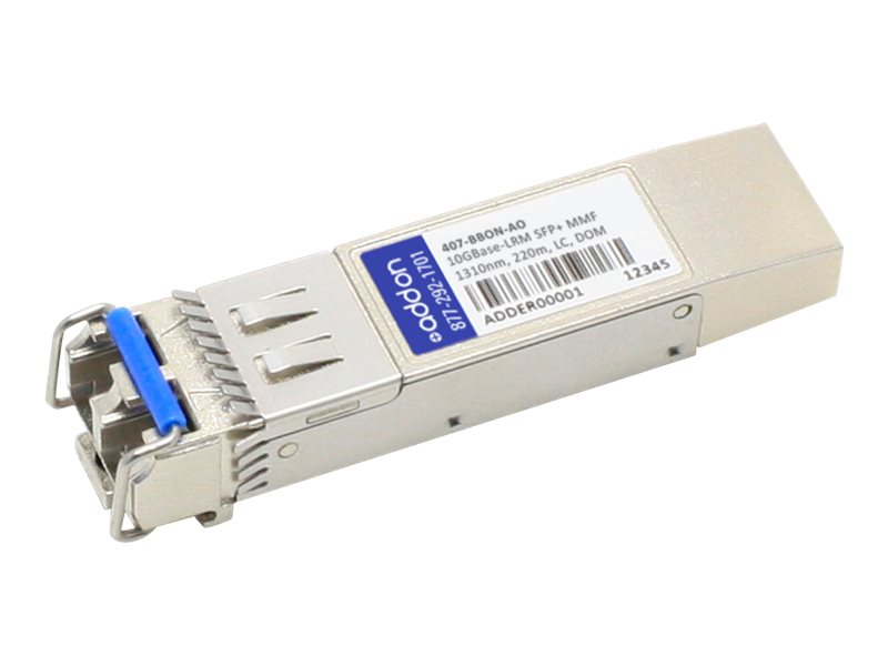 ACP-EP SFP+ 220M LRM LC 407-BBON TAA XCVR 10-GIG LRM DOM LC Transceiver for Dell, 407-BBON-AO