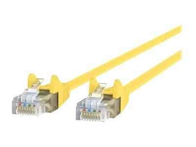 Belkin Cat6 UTP Patch Cable, Yellow, Snagless, 3ft
