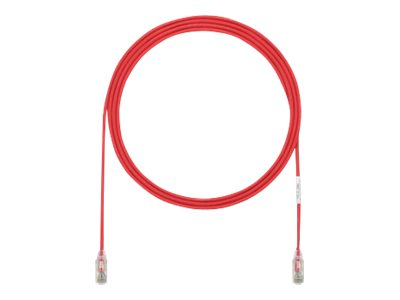 Panduit Cat6e 28AWG UTP CM LSZH Copper Patch Cable, Red, 24ft