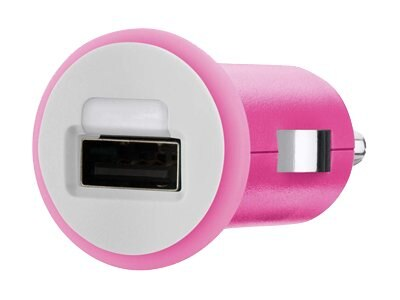 Belkin Mixit Up Car Charger 5 Watt 1 Amp, Pink, F8J018TTPNK, 15756222, Automobile/Airline Power Adapters