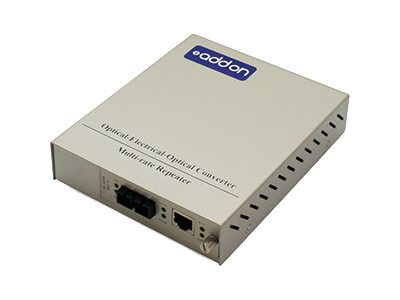 ACP-EP 1Gbps RJ-45 to SC Media Converter Standalone Kit, ADD-MCC1GSM20-SK
