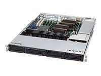 Supermicro SuperChassis 815TQ-563CB, 1U Chassis, 560W High-efficiency Power Supply, Black