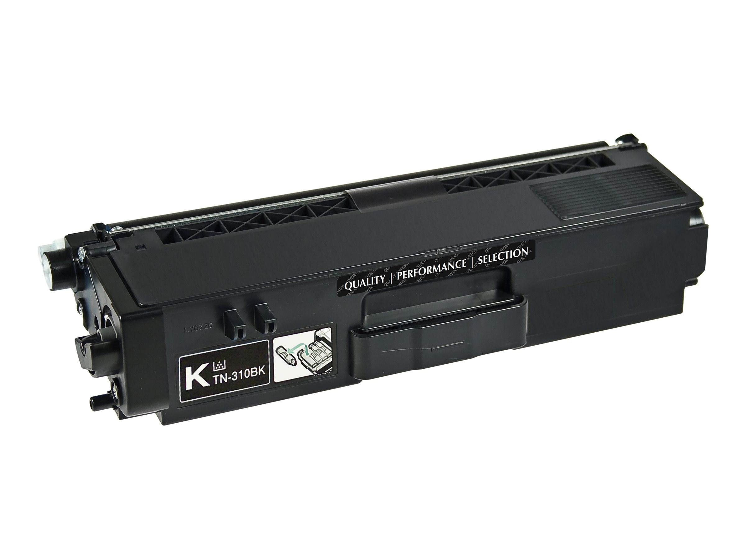 V7 TN315BK Black High Yield Toner Cartridge for Brother, V7TN315B