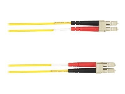 Black Box LC-LC 50 125 Multimode Plenum Fiber Optic Cable, Yellow, 20m, FOCMP50-020M-LCLC-YL