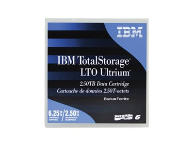 IBM 6.25TB LTO-6 Ultrium Data Cartridge, 00V7590, 15142263, Tape Drive Cartridges & Accessories