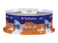 Verbatim 16x 4.7GB White Inkjet Hub Printable DVD-R Disc
