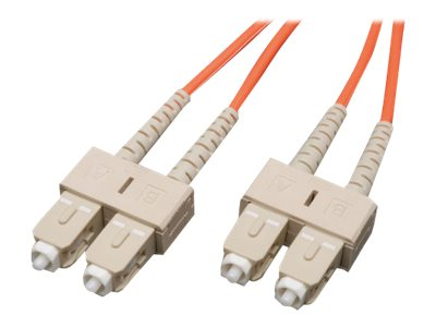Tripp Lite Fiber Patch Cable, SC-SC, 62.5 125, Duplex, Multimode, Orange, 100m