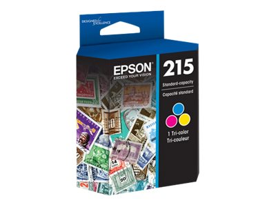 Epson Tri-color 215 Standard-Capacity Ink Cartridge, T215530, 18472014, Ink Cartridges & Ink Refill Kits