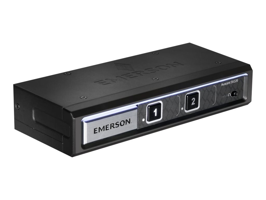 Avocent SV220 Desktop KVM, 2-port, DVI-I (Dual-Link), Audio, SV220-001, 24348351, KVM Switches