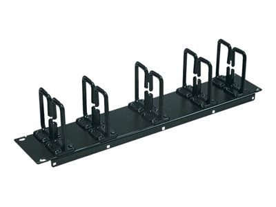 Tripp Lite 2U Horizontal Cable Manager, 19, Flexible Ring Type, SRCABLERING2U, 8880276, Rack Cable Management