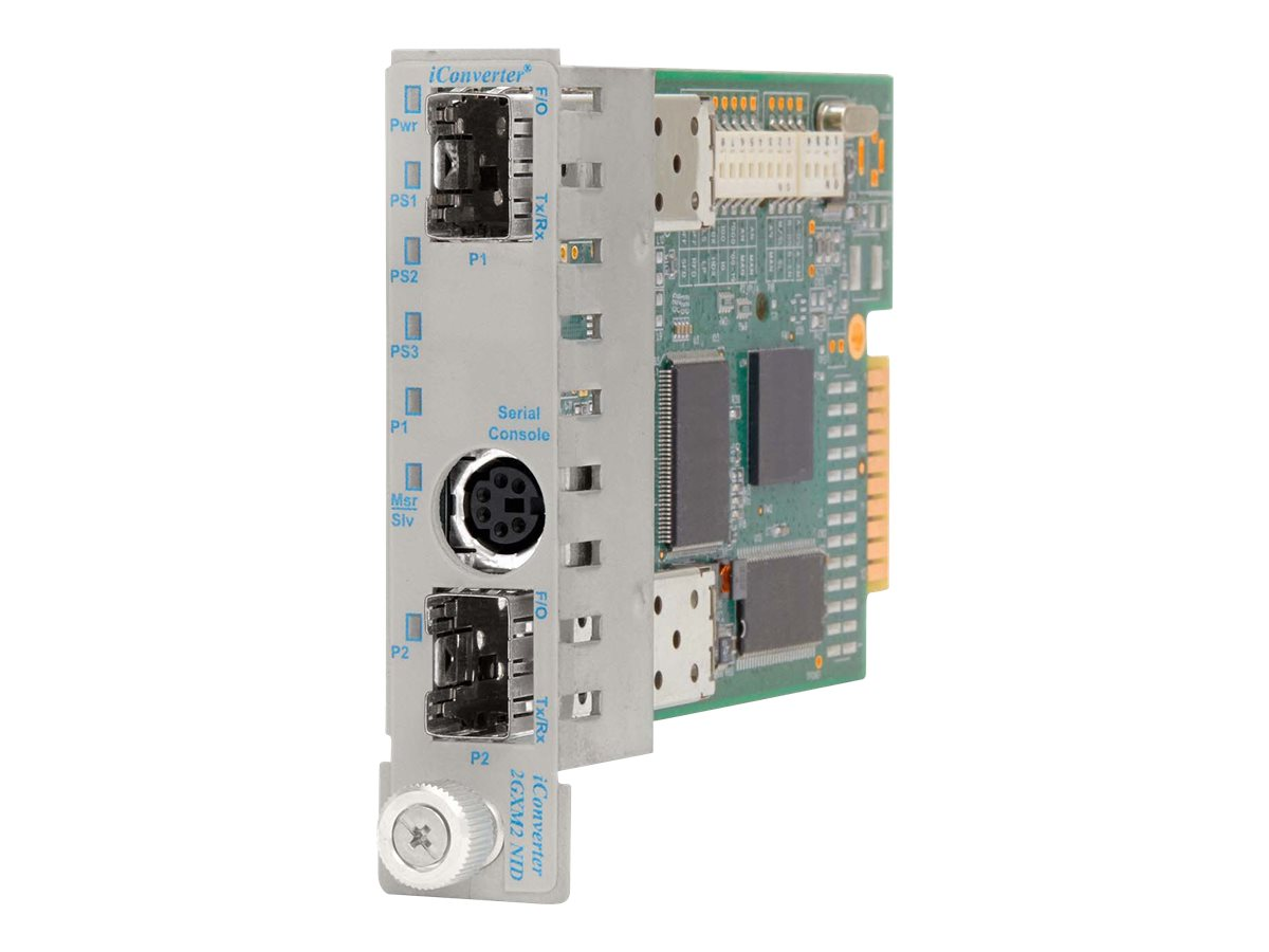 Omnitron iConverter 2GXM2 1000BASEX 1000BASEX RS232 DIN6-M DB9-F Module with Management, 8999N-0, 13700954, Network Transceivers