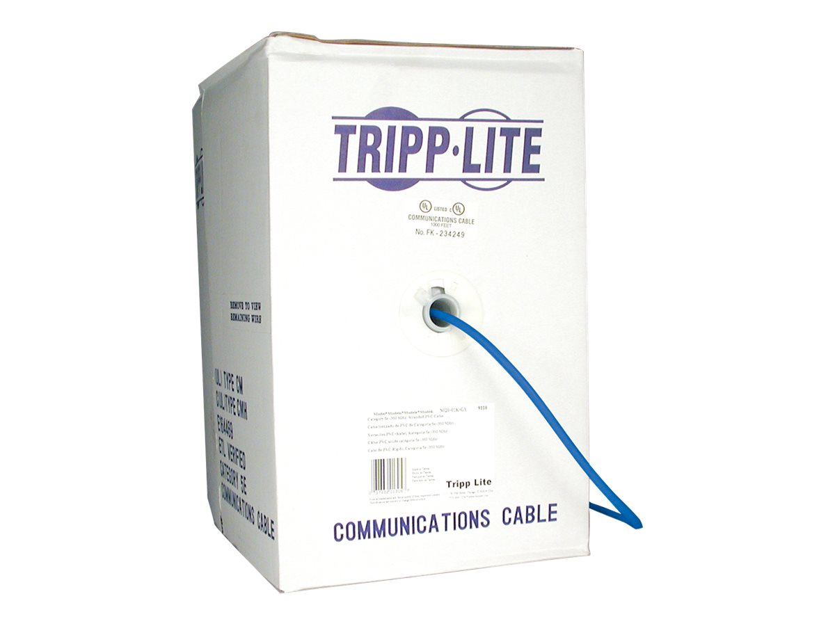 Tripp Lite Cat5e 350MHz Bulk Solid-Core Plenum Cable, 1000ft, N024-01K, 169030, Cables