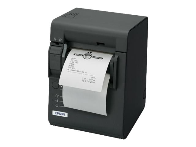 Epson TM-L90 U03 USB 3.5 203dpi Label Receipt Printer for Liner-Free Media w  Edge & PS-180 Power Supply