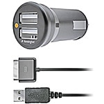 Kensington Powerbolt Duo Car Charger for iPhone, iPod, iPad, K33497US, 11644354, Automobile/Airline Power Adapters