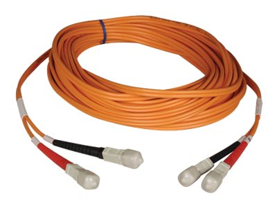 Tripp Lite SC-SC 50 125 OM2 Multimode Fiber Patch Cable, Orange, 9m