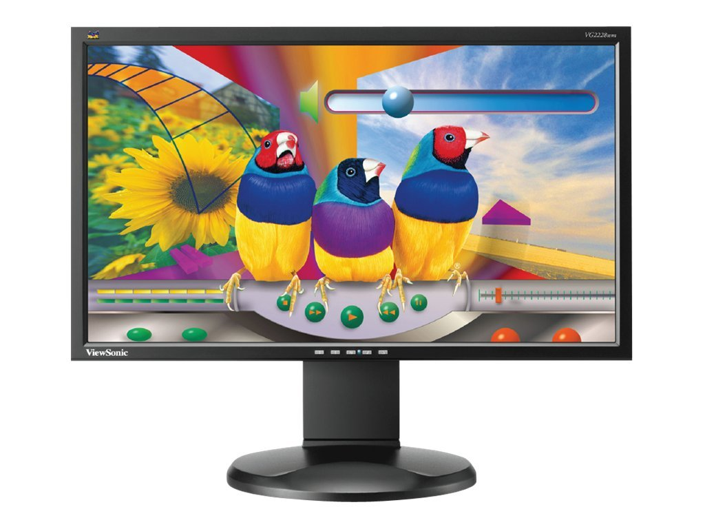 ViewSonic 22 VG2228WM Full HD LED-LCD Monitor with Speakers, Black