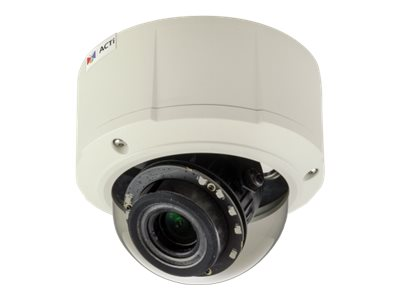 Acti 10MP Outdoor Dome with D N, Adaptive IR, Basic WDR, 13.3mm Vari-focal lens
