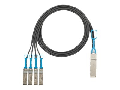 Panduit 30AWG QSFP+ to 4x SFP+ Twinaxial Copper Cable, Black, 2m