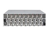 Supermicro SuperServer 5037 MicroCloud 3U RM 8-Node (8x)Xeon E3-1200v2 Family Max.256GB 16x3.5 Bays 2x1620W, SYS-5037MC-H86RF