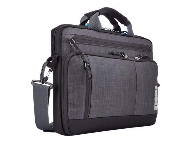 Case Logic Thule 13 Stravan Deluxe Attache for MacBook Pro MacBook Air, Gray, TSDA113GRAY, 23306168, Carrying Cases - Notebook