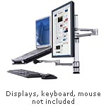 Atdec Combination Monitor Arm and Notebook Tray Mount - TAA