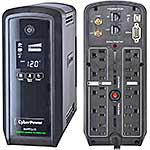 CyberPower 850VA 510W PFC Compatible Pure Sine Wave UPS, CP850PFCLCD, 11949588, Battery Backup/UPS