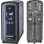 CyberPower 1000VA 600W PFC Compatible Pure Sine Wave UPS, CP1000PFCLCD, 11949596, Battery Backup/UPS