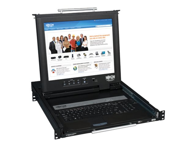 Tripp Lite KVM Rackmount Console, Dual Rail with 17 LCD, B021-02R-17, 12487573, KVM Displays & Accessories