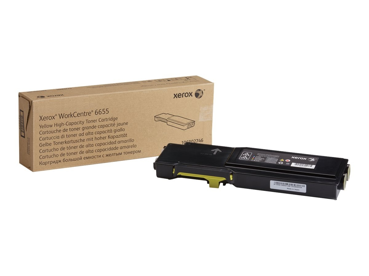 Xerox Yellow High Capacity Toner Cartridge for WorkCentre 6655, 106R02746