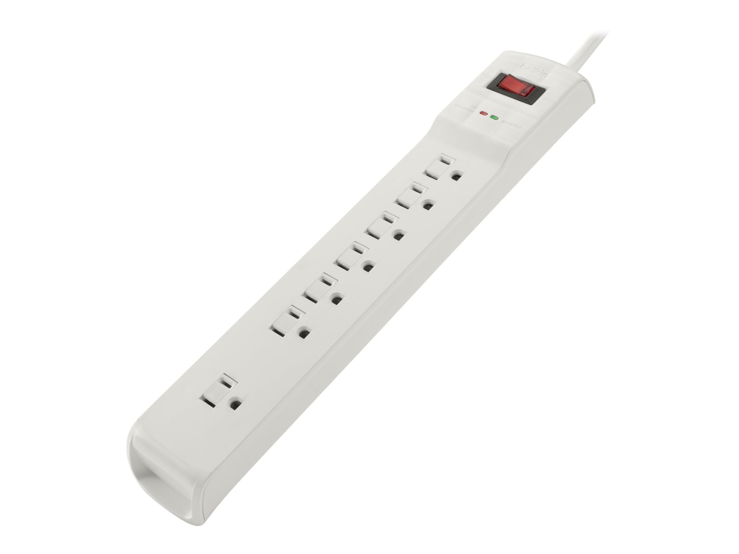 Belkin Surge Protector (7) Outlets, 2100 Joules, 6-foot Power Cord, White, BSQ700BG06-DP, 20593923, Surge Suppressors