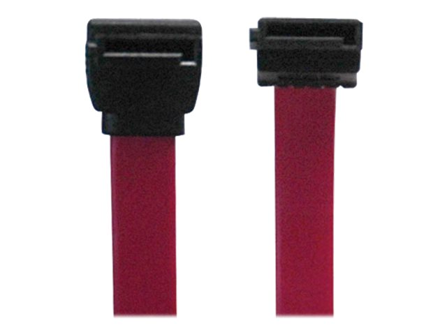 Tripp Lite Serial ATA (SATA) Signal Cable, 7-pin M M, Straight Down, Red, 19, P942-19I
