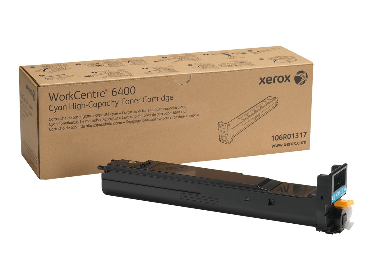 Xerox Cyan High Capacity Toner Cartridge for WorkCentre 6400, 106R01317