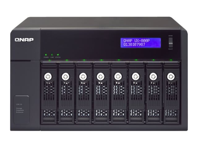 Qnap UX-800P 8-Bay SATA 3.5 USB 3.0 RAID Enclosure, UX-800P, 17730464, Hard Drive Enclosures - Multiple