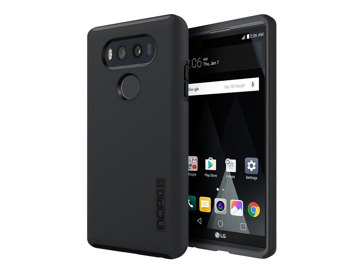 Incipio DualPro Hard Shell Case w  Impact Absorbing Core for LG V20, Black Black, LGE-311-BLK