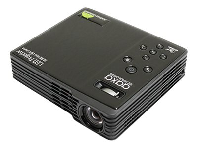 Aaxa Pico LED Projector, 550 Lumens, Black with On Board Android 4.2