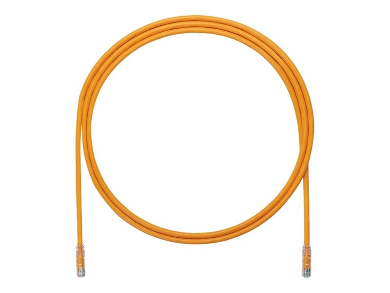Panduit CAT6A UTP Copper Patch Cable, Orange, 7ft