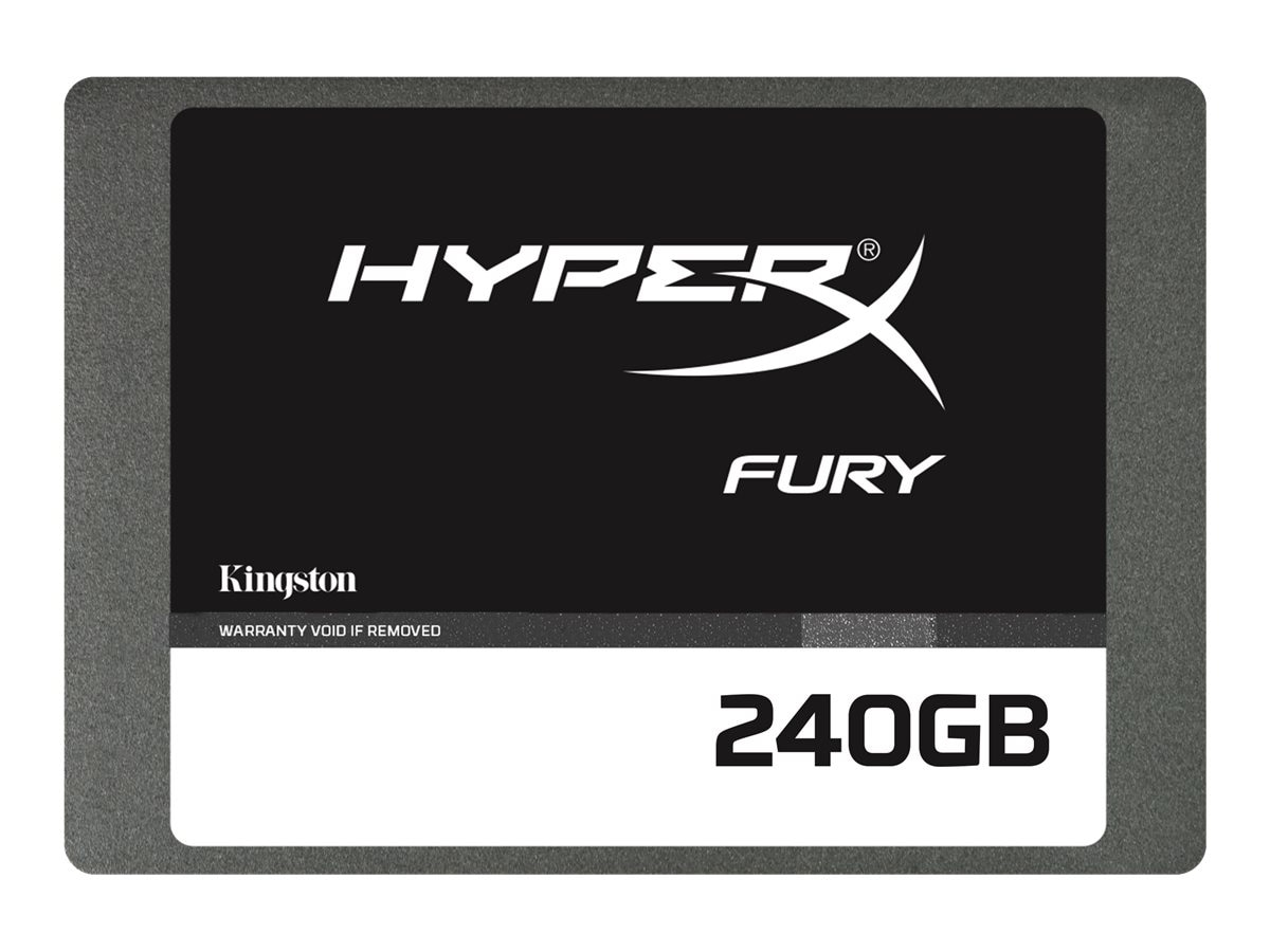 Kingston 240GB HyperX FURY SATA 6Gb s 2.5 7mm Internal Solid State Drive, SHFS37A/240G, 17434622, Solid State Drives - Internal