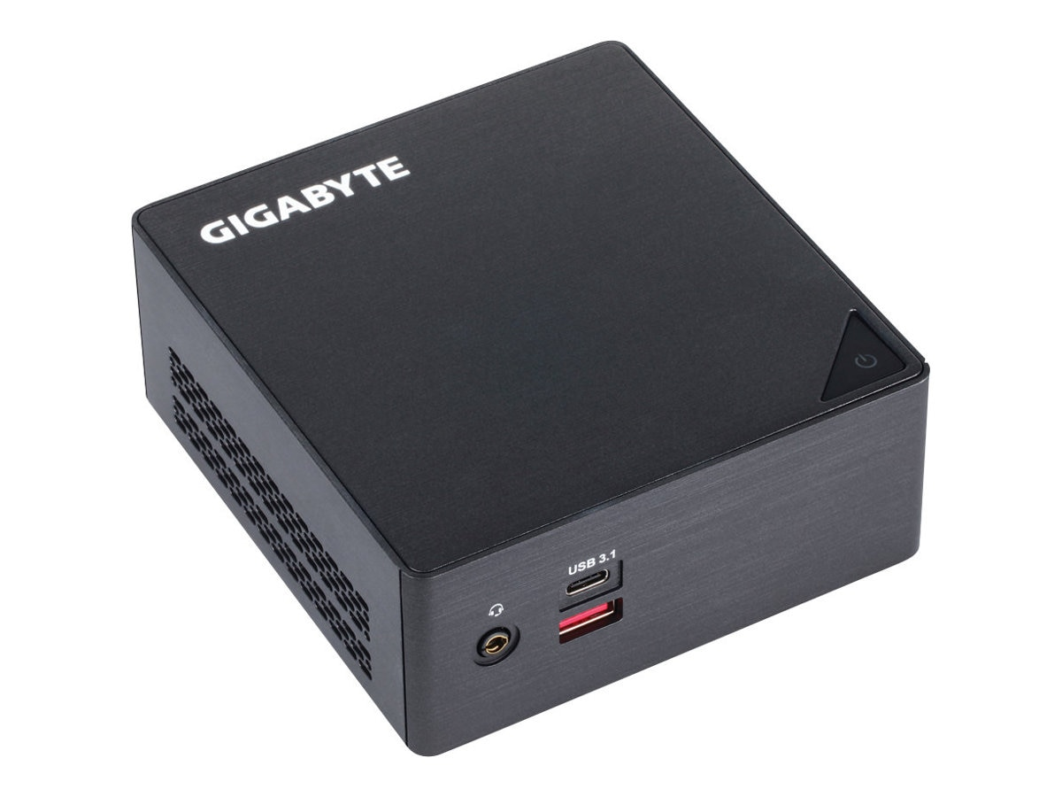 Gigabyte Tech Barebones, BRIX Ultra Compact Core i3-6100U 2.3GHz Max. 32GB DDR4 1x2.5 Bay 2xGbE ac BT, Black