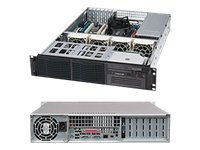 Supermicro 2U Chassis, SC822, 400W PSU, Black, CSE-822I-400LPB, 11620820, Cases - Systems/Servers