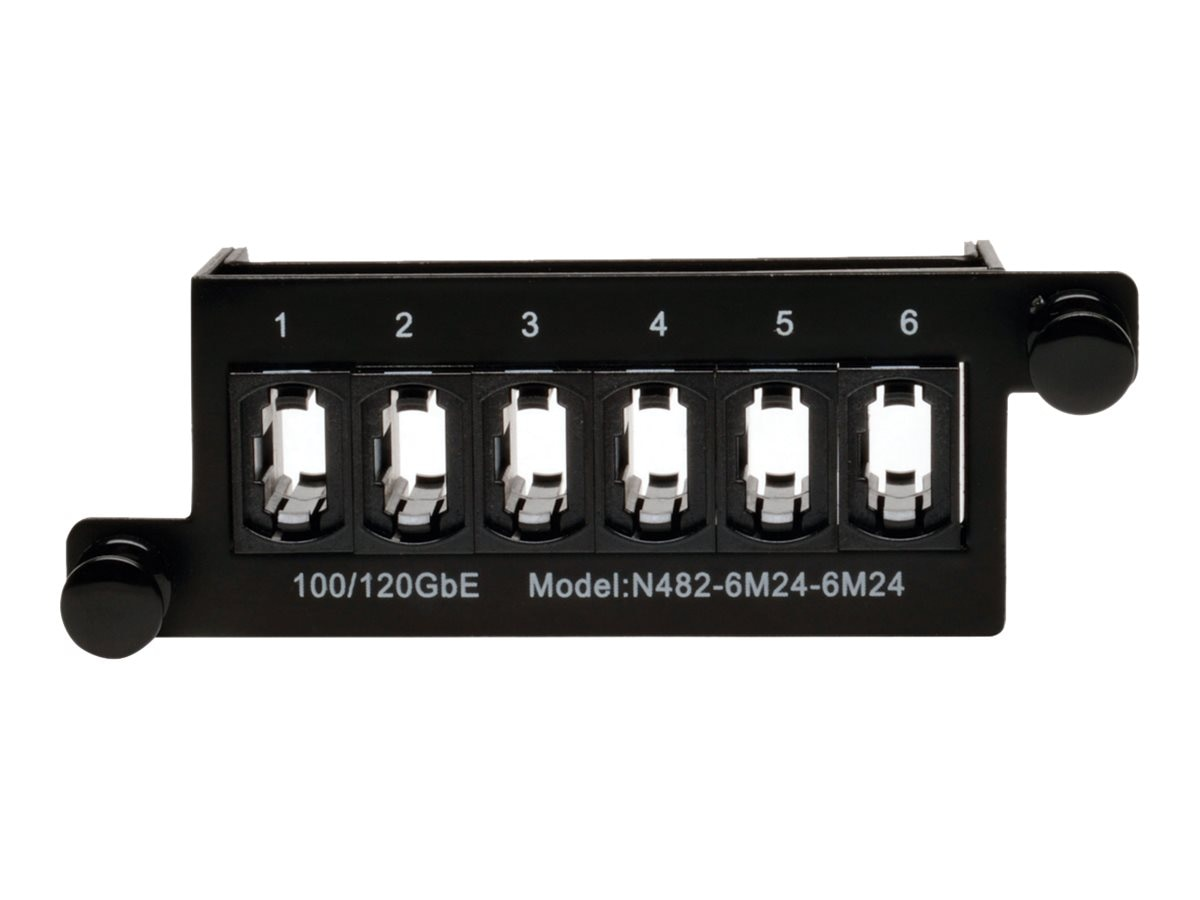 Tripp Lite 100Gb 120Gb Pass Through Cassette (x6) 24-Fiber MTP MPO Coupler, N482-6M24-6M24