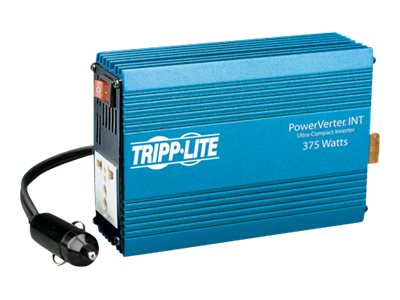Tripp Lite PowerVerter Ultra-Compact Inverter, 375W, 12VDC Input, 230VAC Output, (1) Universal Global Outlet