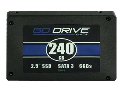 VisionTek 240GB GoDrive SATA 6Gb s 2.5 7mm Internal Solid State Drive, 900624
