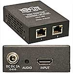 Tripp Lite 2-Port HDMI over Cat5 Cat6 Extender Splitter, Transmitter for Video and Audio, 1080p at 60Hz