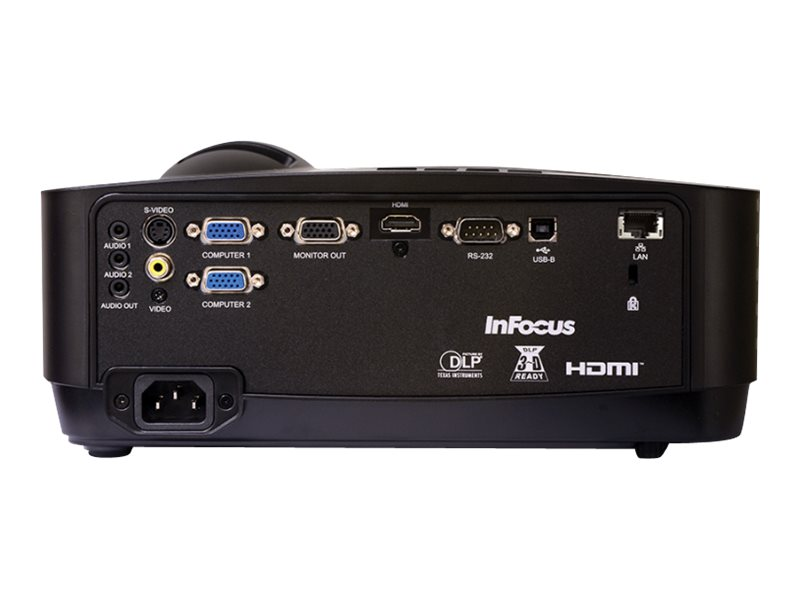 InFocus IN126X WXGA 3D DLP Projector, 4200 Lumens, Black, IN126X