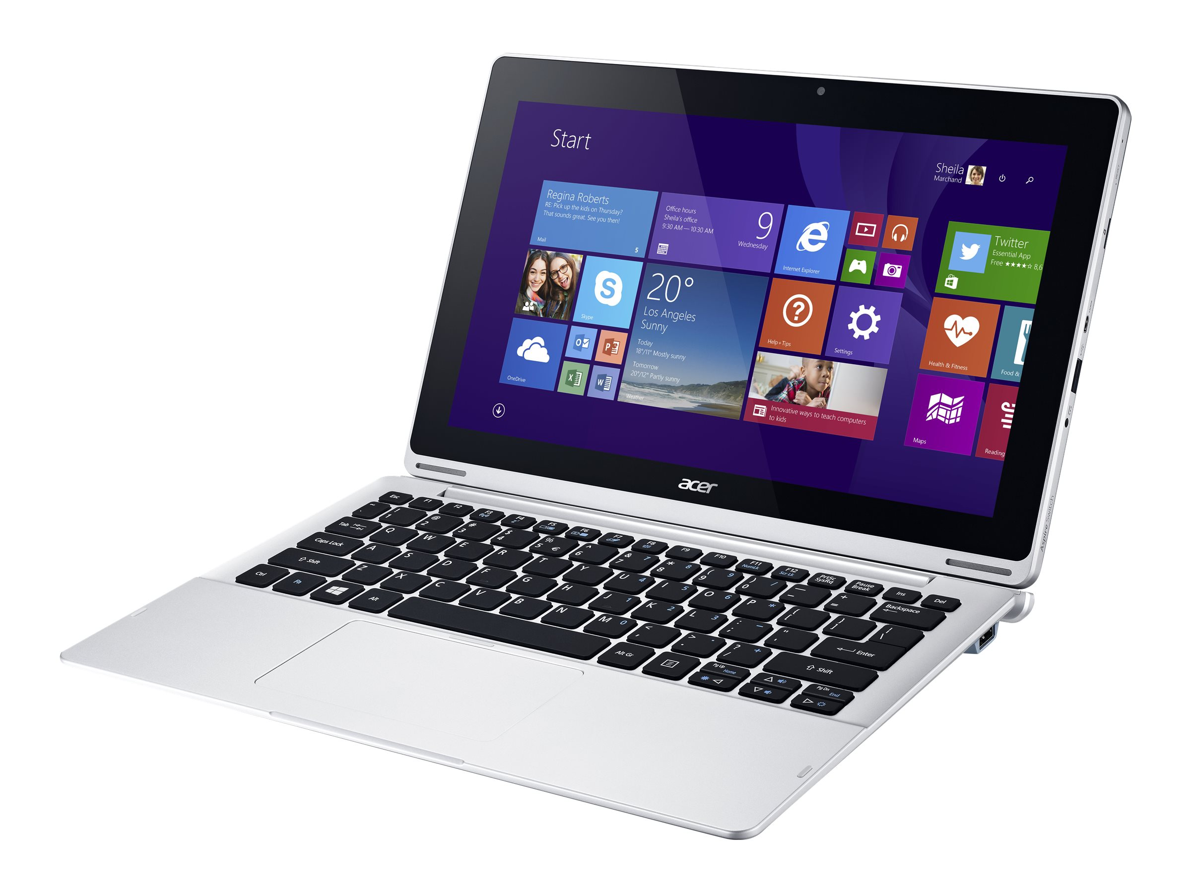 Acer Aspire SW5-171-88JV 128GB SSD abgn W8-64 with Keyboard, NT.L69AA.007, 30611267, Tablets