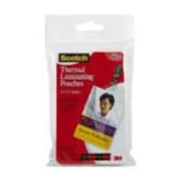 3M 2.52 x 4.252 Thermal Pouches for ID Badge with Clip, 10-Pack, TP5852-10, 12268135, Office Supplies