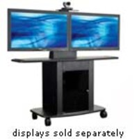 Avteq 42 Tall Cart for Dual 55 Displays, GMP-300L-TT2, 12372442, Computer Carts