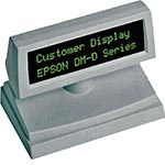 Epson DM-D110 Customer Display, Tall, 2 x 20, Green VFD, RS-232 I F, Serial Cable, Base, Dark Gray