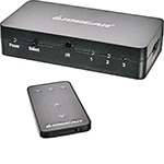 IOGEAR 3-Port HD Audio Video Switch with Remote, GHDSW3, 12450738, Switch Boxes - AV