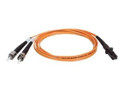 Tripp Lite Fiber Optic Patch Cable, MTRJ ST, 62.5 125, Duplex Multimode, 8m, N308-08M, 7371023, Cables